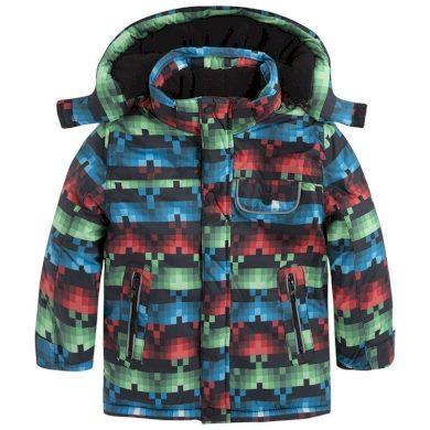 Mayoral Dětská bunda s kapucí - kostkovaná