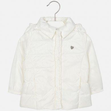 MAYORAL dívčí větrová bunda - bílá