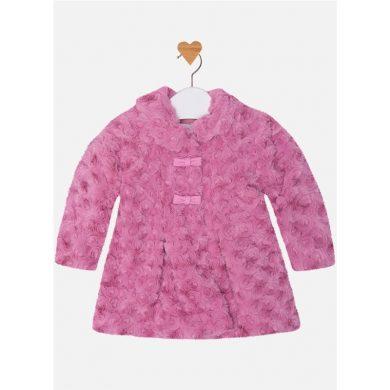Mayoral Dívčí kabát s umělou kožešinou - fialový