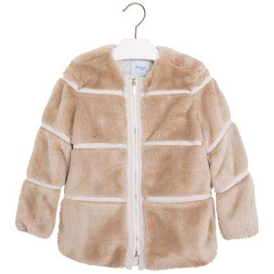 Mayoral Dětský kabát s umělým kožíškem - hnědý