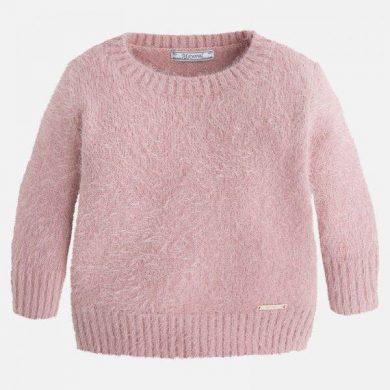 Mayoral dívčí svetr 3/4 rukáv - růžový