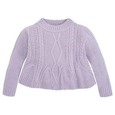 Mayoral dívčí pletený svetr - světle fialový