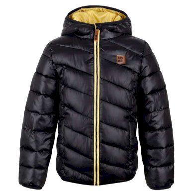 Loap dětská zimní bunda Ben - černo žlutá