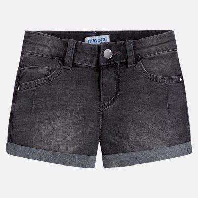 MAYORAL dívčí jeansové kraťasy - černé
