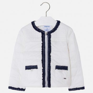 MAYORAL dívčí vycpávaná bunda s kapsami - bílá