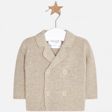 MAYORAL chlapecký kabátek na knoflíky béžová