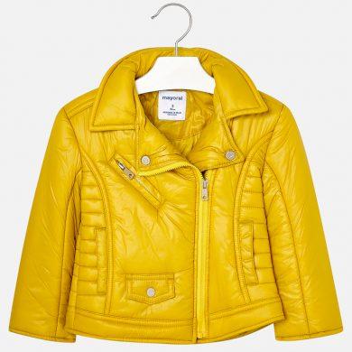 MAYORAL dívčí zimní bunda zip na stranu žlutá