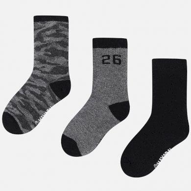 MAYORAL chlapecký set 3ks ponožky maskáč