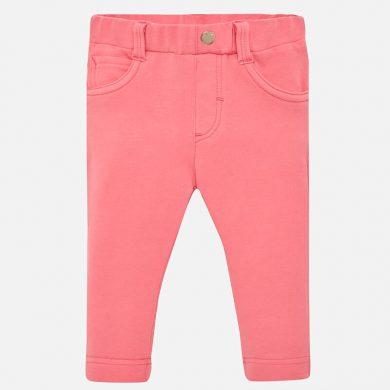 MAYORAL dívčí bavlněné kalhoty středně růžová
