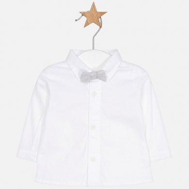 MAYORAL chlapecká košile s motýlkem bílá, šedá