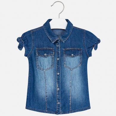 MAYORAL dívčí košile denim tmavě modrá