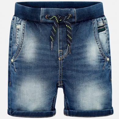 MAYORAL chlapecké džínové kraťasy na tkaničku modrá