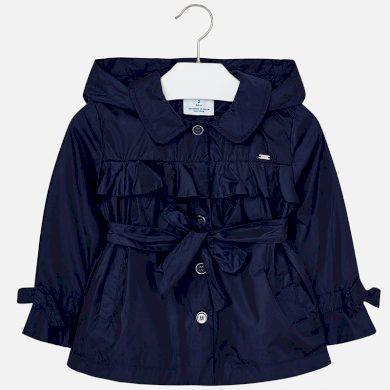 MAYORAL dívčí kabátek s mašlí tmavě modrá