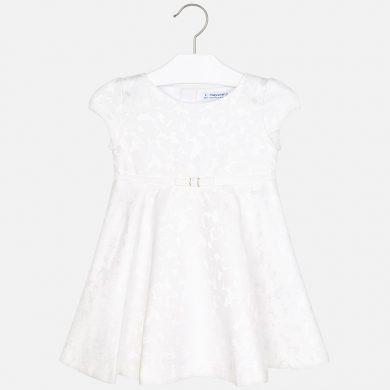 MAYORAL dívčí žakárové šaty béžová