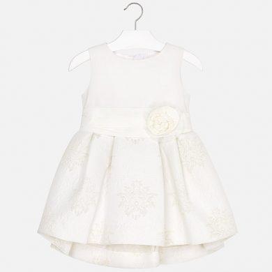 MAYORAL dívčí formální žakárové šaty béžová