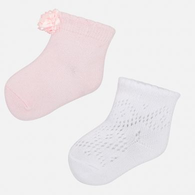 MAYORAL dívčí sada ponožek 2 páry růžová