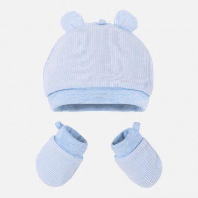 MAYORAL dívčí set čepička a rukavičky modrá