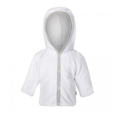 LITTLE ANGEL Kabátek MAZLÍK Outlast® bílá/sv.šedá