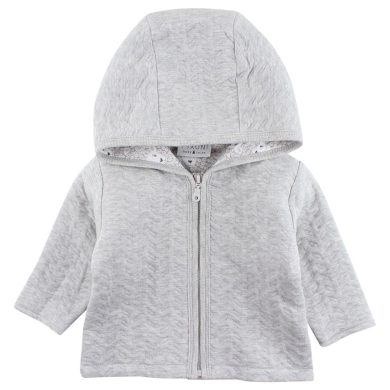 FIXONI dětská mikina na zip s kapucí šedá