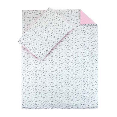 ESITO dětské povlečení Toys Jersey  růžová vel. 100x135, 60x40 cm