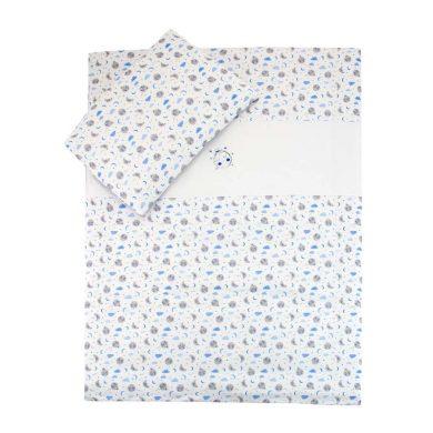 ESITO dětské povlečení Měsíček Jersey modrá vel. 100x135, 60x40 cm
