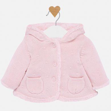MAYORAL dívčí svetr pletený růžová