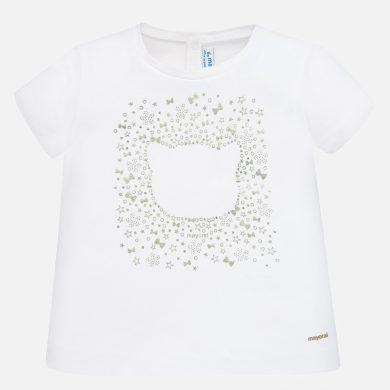 MAYORAL dívčí triko s krátkým rukávem - bílé