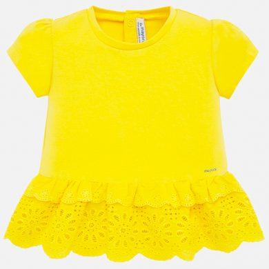 MAYORAL dívčí triko s krátkým rukávem - žluté
