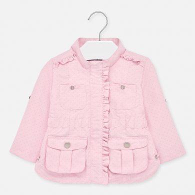 MAYORAL dívčí jarní bunda - sv. růžová s puntíky
