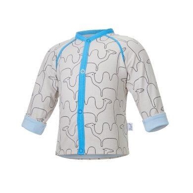 LITTLE ANGEL Kabátek podšitý BIO Outlast® béžová velbloud/sv.modrá