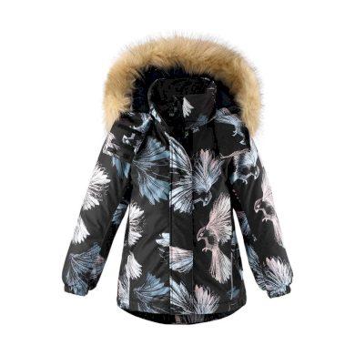 REIMA dívčí zimní bunda Kiela Black