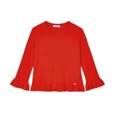 MAYORAL dívčí svetr, červená/oranžová