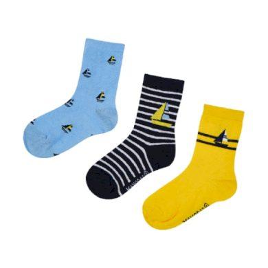 MAYORAL chlapecký set 3ks ponožek - žlutá/modrá