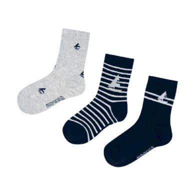 MAYORAL chlapecký set 3ks ponožek, tmavě modré