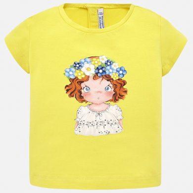 MAYORAL dívčí tričko KR zrzka žlutá