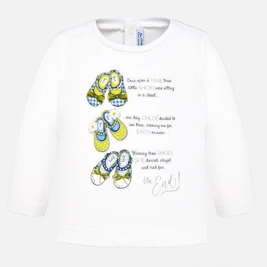 MAYORAL dívčí tričko DR botky bílá