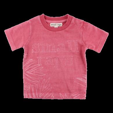 SMALL RAGS dívčí tričko KR logo růžová
