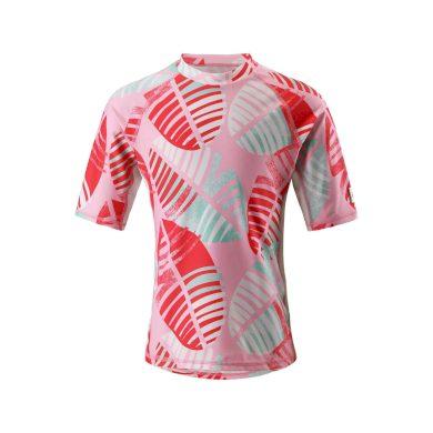 REIMA dívčí tričko s potiskem listy Fiji - červená