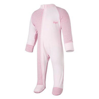 LITTLE ANGEL Overal tenký DR Outlast® pruh růžovobordový/růžová baby