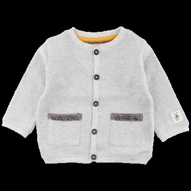 SMALL RAGS chlapecký svetr na zapínání šedá