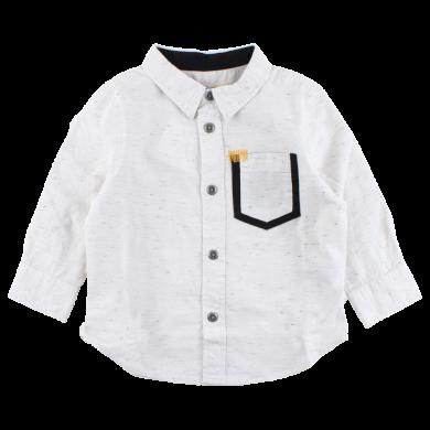 SMALL RAGS chlapecká košile s kapsičkou béžová