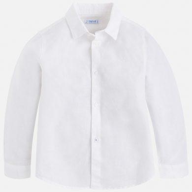 MAYORAL chlapecká košile s dlouhým rukávem - bílá
