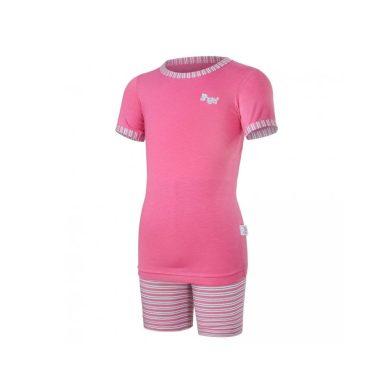 LITTLE ANGEL Pyžamo KR Outlast® tm.růžová/pruh růžovozelený