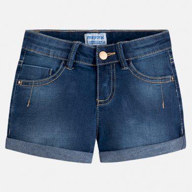 MAYORAL dívčí jeans kraťasy - tmavě modré