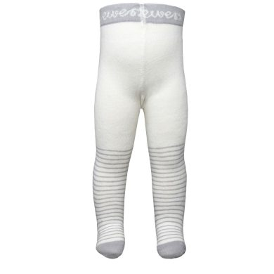EWERS dětské punčocháče proužky bílá/šedá
