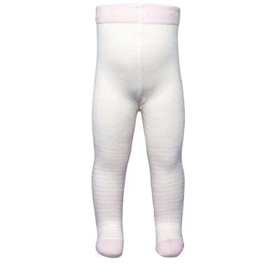 EWERS dětské punčocháče proužky bílá/růžová