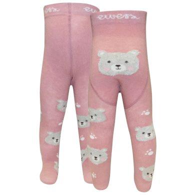 EWERS dětské punčocháče medvídek chlupatý růžová