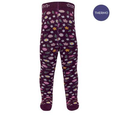 EWERS dětské punčocháče kytičky fialová