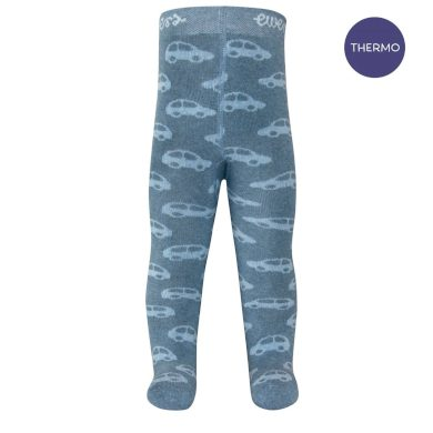 EWERS dětské punčocháče termo autíčka jeans melange