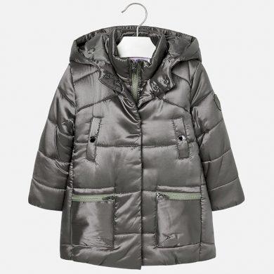 MAYORAL dívčí dlouhá zimní bunda šedá
